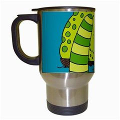 Monster Sea Too Big To Sail Travel Mugs (white) by AnjaniArt