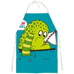 Monster Sea Too Big To Sail Full Print Aprons by AnjaniArt
