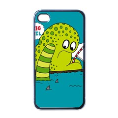 Monster Sea Too Big To Sail Apple Iphone 4 Case (black)