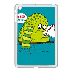 Monster Sea Too Big To Sail Apple Ipad Mini Case (white) by AnjaniArt