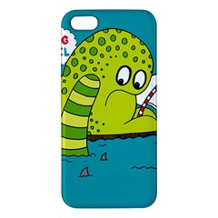 Monster Sea Too Big To Sail Apple Iphone 5 Premium Hardshell Case