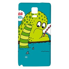 Monster Sea Too Big To Sail Galaxy Note 4 Back Case by AnjaniArt