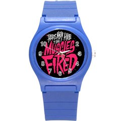 Muscles Fired Round Plastic Sport Watch (s)