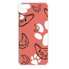 Face Cat Pink Cute Apple Iphone 5 Seamless Case (white) by AnjaniArt