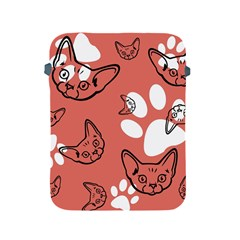 Face Cat Pink Cute Apple Ipad 2/3/4 Protective Soft Cases by AnjaniArt