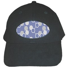 Round Blue Black Cap by AnjaniArt