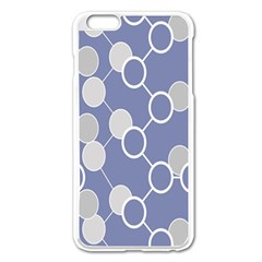 Round Blue Apple Iphone 6 Plus/6s Plus Enamel White Case by AnjaniArt