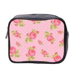 Rose Pink Mini Toiletries Bag 2 Side by AnjaniArt