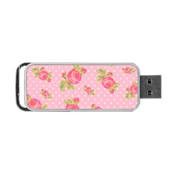 Rose Pink Portable Usb Flash (two Sides) by AnjaniArt