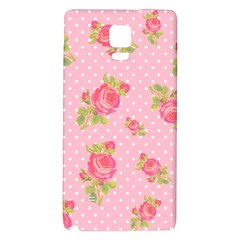 Rose Pink Galaxy Note 4 Back Case by AnjaniArt
