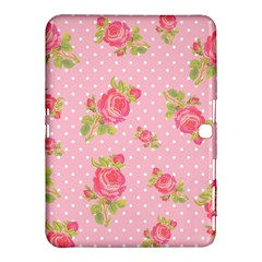 Rose Pink Samsung Galaxy Tab 4 (10 1 ) Hardshell Case  by AnjaniArt
