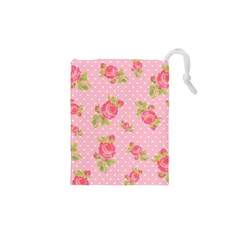 Rose Pink Drawstring Pouches (xs)  by AnjaniArt
