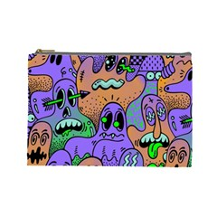 Monster Alien Ghost Cosmetic Bag (large)  by AnjaniArt