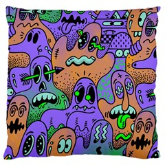 Monster Alien Ghost Standard Flano Cushion Case (two Sides)