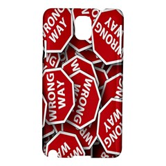 Road Sign Wrong Way Samsung Galaxy Note 3 N9005 Hardshell Case