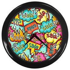 Sale Prise Disc Wall Clocks (black) by AnjaniArt