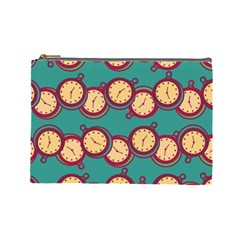 Timing Smart Time Cosmetic Bag (large)  by AnjaniArt