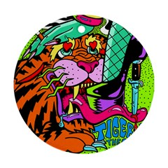Tiger Lion Ornament (round)