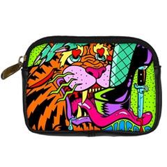 Tiger Lion Digital Camera Cases by AnjaniArt