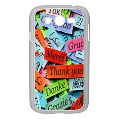 Thank You,danke Merci Samsung Galaxy Grand Duos I9082 Case (white) by AnjaniArt