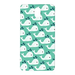 Whale Sea Blue Samsung Galaxy Note 3 N9005 Hardshell Back Case