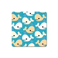 Whole Sea Animals Square Magnet by AnjaniArt