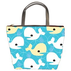 Whole Sea Animals Bucket Bags by AnjaniArt