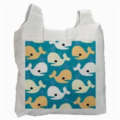 Whole Sea Animals Recycle Bag (one Side)