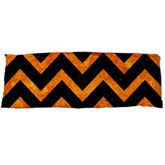 Chevron9 Black Marble & Orange Marble Body Pillow Case Dakimakura (two Sides) by trendistuff