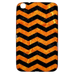 Chevron3 Black Marble & Orange Marble Samsung Galaxy Tab 3 (8 ) T3100 Hardshell Case  by trendistuff