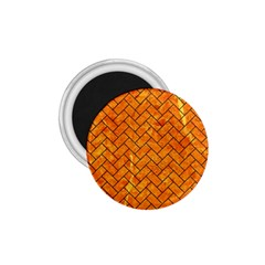 Brick2 Black Marble & Orange Marble (r) 1 75  Magnet by trendistuff