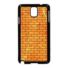 Brick1 Black Marble & Orange Marble (r) Samsung Galaxy Note 3 Neo Hardshell Case (black) by trendistuff
