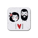 Love u Drink Coaster (Square) Front