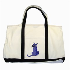 Blue Cat Two Tone Tote Bag