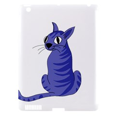 Blue Cat Apple Ipad 3/4 Hardshell Case (compatible With Smart Cover) by Valentinaart