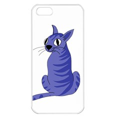 Blue Cat Apple Iphone 5 Seamless Case (white)