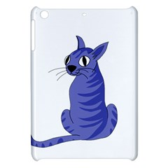 Blue Cat Apple Ipad Mini Hardshell Case by Valentinaart