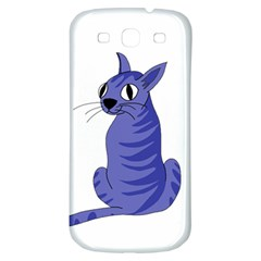 Blue Cat Samsung Galaxy S3 S Iii Classic Hardshell Back Case by Valentinaart