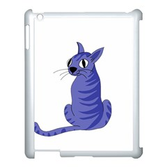 Blue Cat Apple Ipad 3/4 Case (white) by Valentinaart