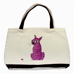 Purple Cat Basic Tote Bag by Valentinaart