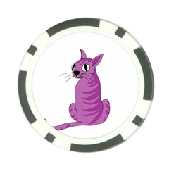 Purple Cat Poker Chip Card Guards