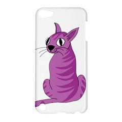 Purple Cat Apple Ipod Touch 5 Hardshell Case