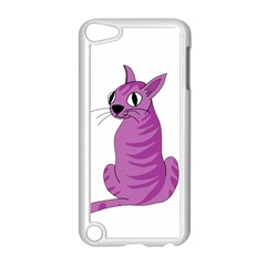 Purple Cat Apple Ipod Touch 5 Case (white) by Valentinaart