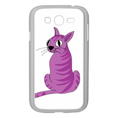 Purple Cat Samsung Galaxy Grand Duos I9082 Case (white) by Valentinaart