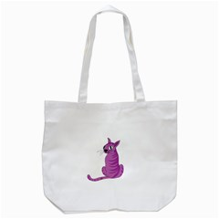 Purple Cat Tote Bag (white) by Valentinaart