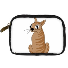 Brown Cat Digital Camera Cases by Valentinaart