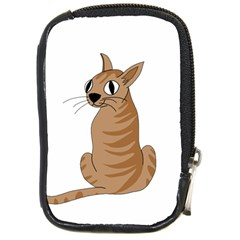 Brown Cat Compact Camera Cases by Valentinaart
