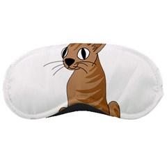 Brown Cat Sleeping Masks