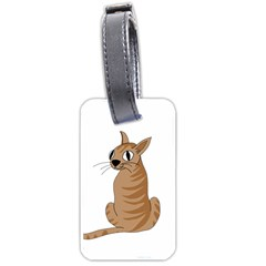 Brown Cat Luggage Tags (two Sides) by Valentinaart