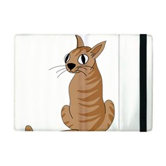 Brown Cat Apple Ipad Mini Flip Case by Valentinaart